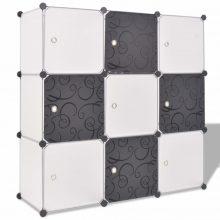 VID fekete és fehér kocka alakú tároló 9 tárolórekesszel