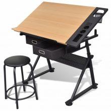 Rajzasztal íróasztal székkel
