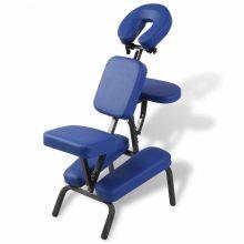 VID Masszázsszék - tetováló szék kék színben, ajándék vállpántos hordozótáskával