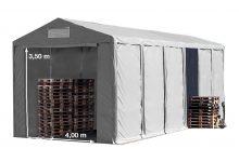 Vario raktársátor 6x12m - 3,6m oldalmagassággal-bejárat típusa: standard
