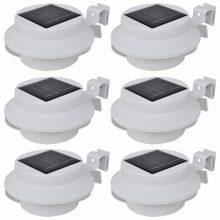 Külső napelemes lámpa két féle fénnyel 6 db fehér