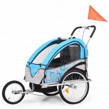 VID 2 az 1-ben kék/szürke kerékpár utánfutó és babakocsi 952670