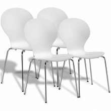 4 db egymásba rakható pillangó szék fehér színben