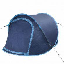 Két személyes pop up sátor sötétkék-kék színben