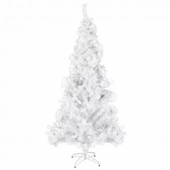 VID Fehér Karácsonyi műfenyő- műanyag tartóval- 210 cm