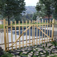VID dupla mogyorófa deszka-kerítéskapu 300 x 150cm