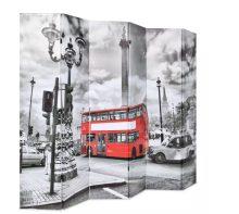 VID fekete/fehér paraván 228 x 180 cm londoni busz
