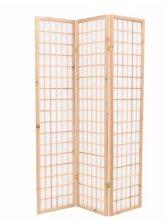 VID 3 paneles, természetes, japán stílusú paraván 120 x 170 cm