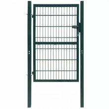 VID 106x250 cm acél kerítés kapu zöld színben