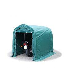 Ponyvagarázs/ sátorgarázs / tároló 1,6x2,4m -PVC 550g/nm zöld színben földhöz való rögzítéssel