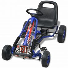 VID Pedálos gokart kocsi állítható üléssel kék színben