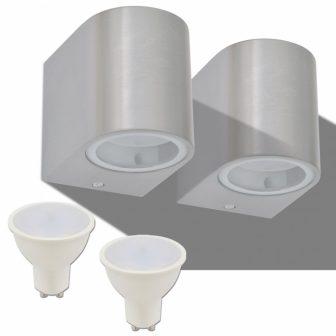 VID Kör alakú lefelé világító kültéri LED fali lámpa 2 db