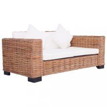 VID 2 személyes rattan kerti kanapé