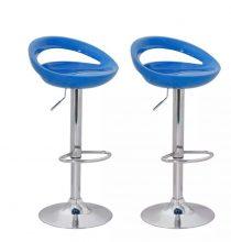 2db modern stílusú bárszék - kék színben