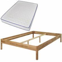 VID Bračni krevet s madracem od memorijske pjene masivna hrastovina