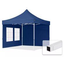 Professional összecsukható sátrak ECO 300g/m2 ponyvával, acélszerkezettel, 2 oldalfallal - 3x3m kék
