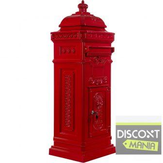 MAX Rozsdamentes alumínium álló postaláda piros