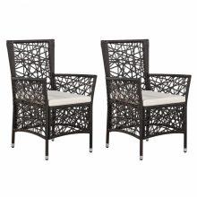 VID 2 db barna polyrattan kültéri étkezőszék  fotel, szék