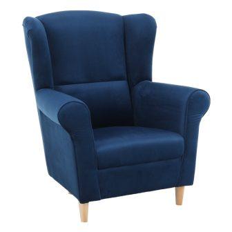 TEKO Stílusos kék szövet fotel RAKTÁRRÓL