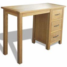 3 fiókos tölgyfa íróasztal