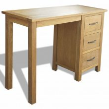 VID 3 fiókos tölgyfa íróasztal