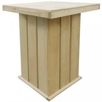 VID impregnált fenyőfa bárasztal 75 x 75 x 110 cm